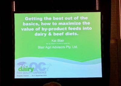 Dairy Feed Quality Conference, Bangkok; Thailand